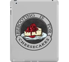 Rebooting Is for Cheescakes (Oklahomo Sherlock spoof video) iPad Case/Skin