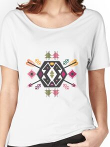 Seamless pattern in native american style Women's Relaxed Fit T-Shirt
