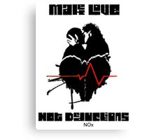Make Love Not Deductions Canvas Print
