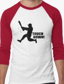 TOUCH DOWN FUNNY T-Shirt Soft HILARIOUS BASEBALL TEE m l b Football n f l Men's Baseball ¾ T-Shirt