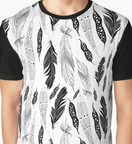 graphic pattern feathers Graphic T-Shirt