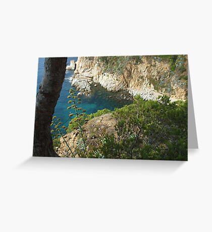 sea view - Tossa de Mar Greeting Card