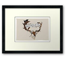 Deerly Framed Print
