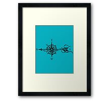 Compass With Arrow  Framed Print