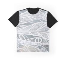 Grey Feathers Graphic T-Shirt