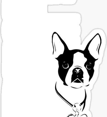 I Just Want To Drink Coffee Pet Boston Terrier & Nap Sticker
