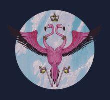 Flamingo Crest One Piece - Short Sleeve