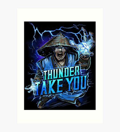 Thunder God Art Print