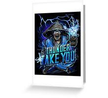 Thunder God Greeting Card