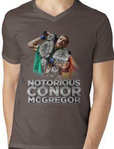 McGregor - Double Champ - Silver Mens V-Neck T-Shirt
