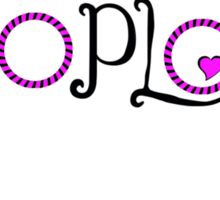 Pink Hoop Love Sticker
