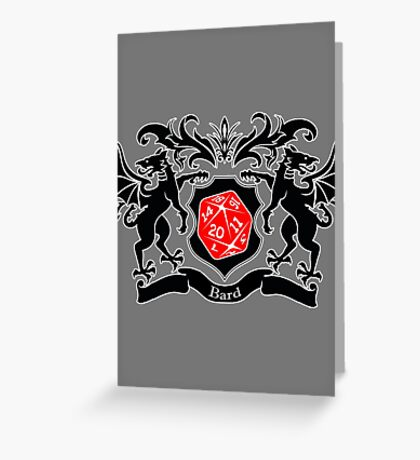 Coat of Arms - Bard Greeting Card