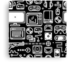 Retro Gamer Video Game Consoles, PC's, Controllers, Joysticks and Gamepads Canvas Print