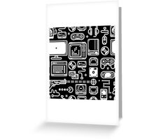 Retro Gamer Video Game Consoles, PC's, Controllers, Joysticks and Gamepads Greeting Card