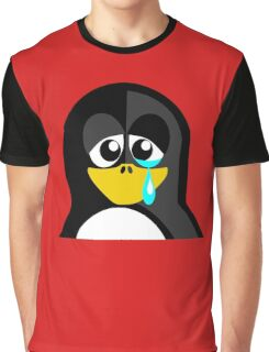 Crying Penguin  Graphic T-Shirt