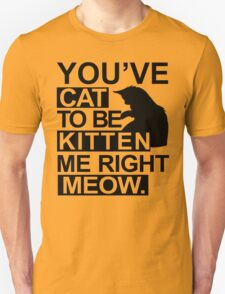 YOU'VE CAT TO BE KITTEN ME RIGHT MEOW TSHIRT Funny Animal Lovers TEE Cats Feline T-Shirt