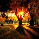 Sunset on Hillside Memorial by shutterbug2010