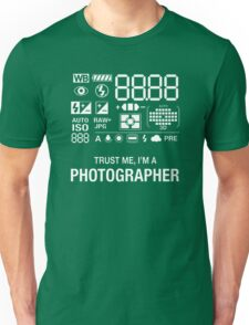 Photographer Camera Photography Gift Present Funny Unisex T-Shirt