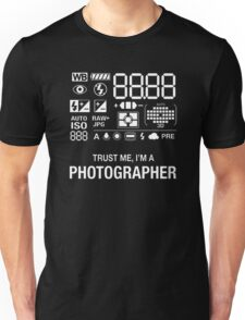 Photographer Camera Photography Gift Present Funny Unisex T-Shirt