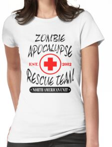 Zombie Apocalypse Rescue Team T-Shirt The Walking Zombies TEE Funny Dead est Womens Fitted T-Shirt