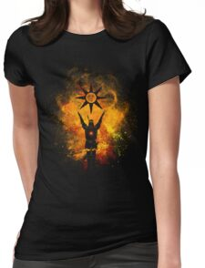 Praise the sun Art Womens Fitted T-Shirt
