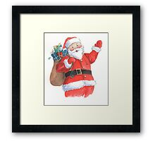 Cute Santa Christmas character Framed Print