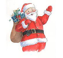 Cute Santa Christmas character Photographic Print