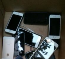 All Iphones, no android Sticker