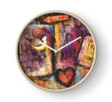 """Abstract & Artsy - Collection by forty-nine """"Live the Life You've Imagined"""" Clock"""