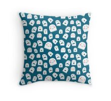 Friendly ghosts pattern Throw Pillow