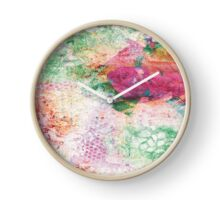 """Abstract & Artsy - Collection by forty-nine """"Garden"""" Clock"""