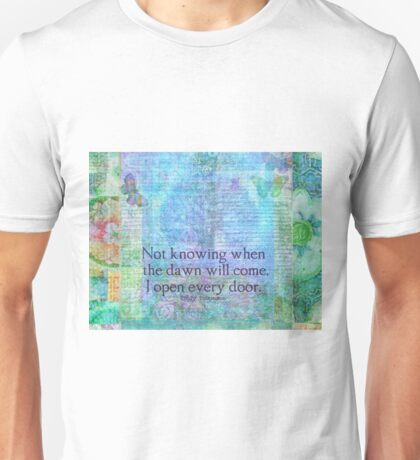 Emily Dickinson inspirational quote Unisex T-Shirt