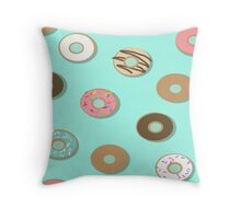 Assorted donuts Throw Pillow