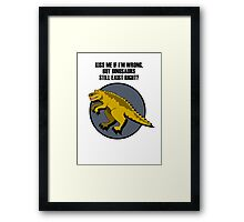 A Cartoon Dinosaur Framed Print
