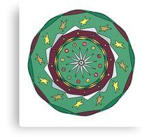 Christmas Mandala Canvas Print