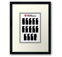 Williams Arcade Cabinets Framed Print