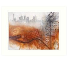Land Memory - Melbourne Art Print