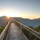 Sunrise at the Dorrigo Skywalk by Rod Kashubin