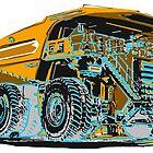 HUGE dump Truck lithograph by Mark Malinowski