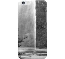 FOUNTAIN IN BLACK AND WHITE iPhone Case/Skin