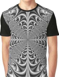 Gothic Geometry in Monochrome Graphic T-Shirt