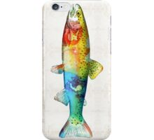 Rainbow Trout Art by Sharon Cummings iPhone Case/Skin