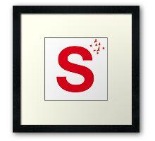 Typography, Font, S, Alphabet, Letter Framed Print