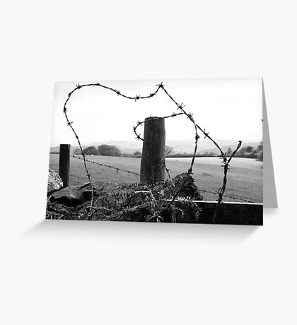 barb barb,,,barbed wire  Greeting Card