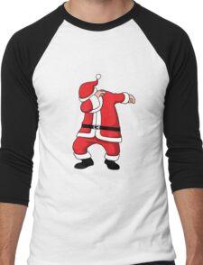 Dabbing Santa Christmas Holiday Vacation Family Gift Men's Baseball ¾ T-Shirt
