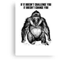 Ape sitting Canvas Print