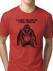 Ape sitting Tri-blend T-Shirt