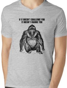 Ape sitting Mens V-Neck T-Shirt