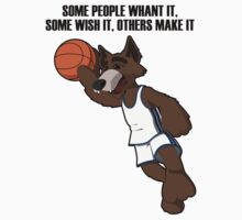 basketball wolf by a1artist