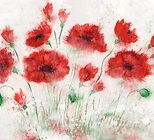 Poppies in the fog by KsanaG